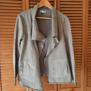 """⭐3/25$ Alfred Sung """"Pure"""" grey open front cardigan"""